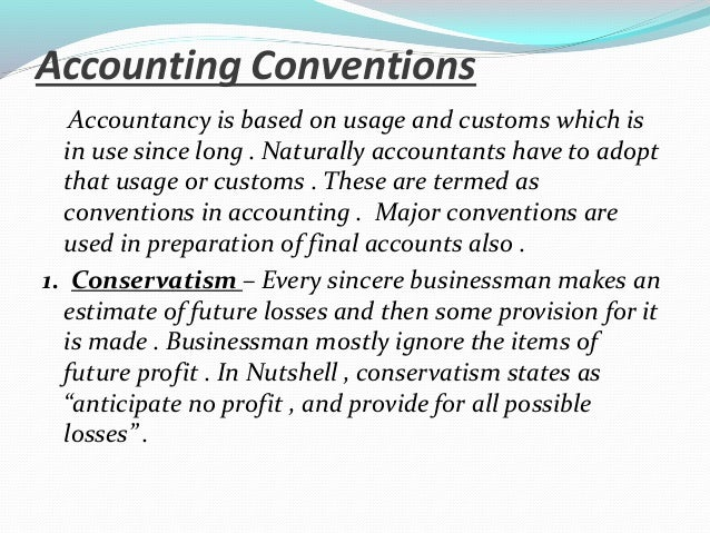 accounting principles concepts and conventions