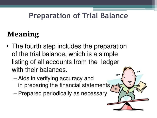 Preparation of Trial Balance Meaning