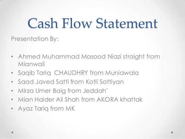 a description of a cash flow statement