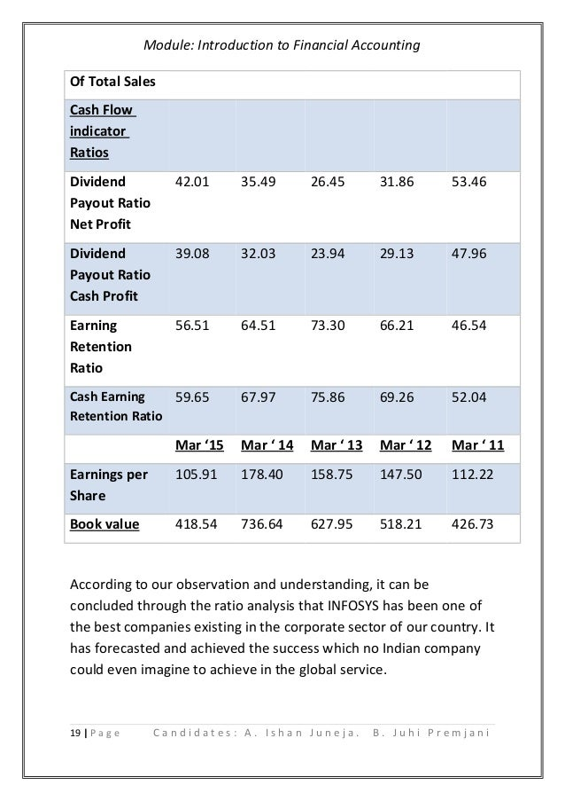 Accounting report infosys cpany