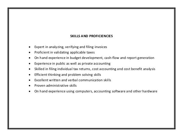 SKILLS ...  Communication Skills Resume