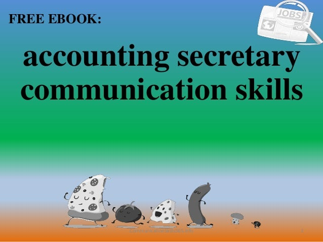 Accounting secretary communication skills pdf