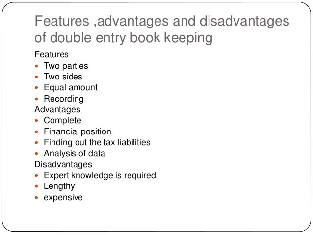 advantages and disadvantages of accounting standards