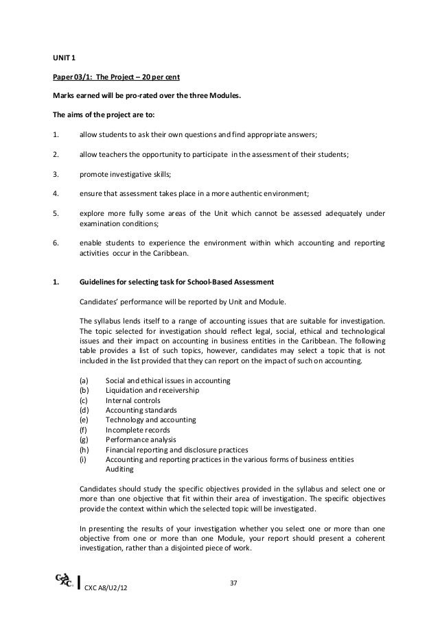 Accountingsyllabus2011cape cxc fandeluxe Gallery