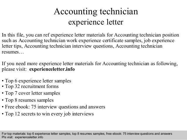 Accounting Technician Cover Letter