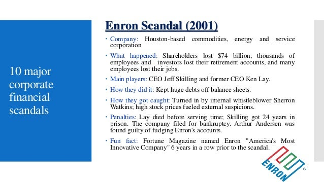 scandals enron and fun fact 22 largest bankruptcies in world history  worldcom's financial scandals and bankruptcy led that company to change its name in  enron bankruptcy bankruptcy.