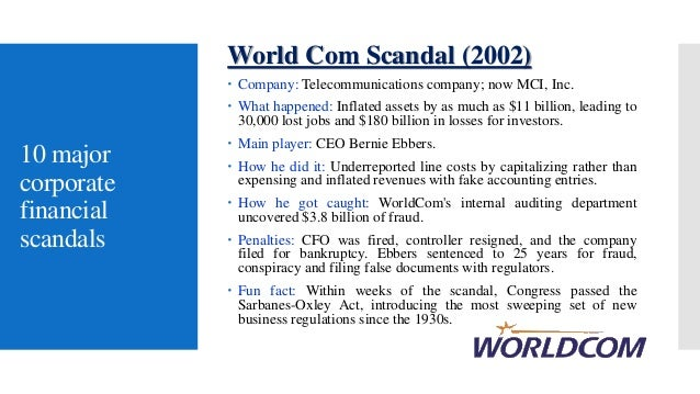 scandals enron and fun fact Ten years after the bankruptcy of energy and commodities firm enron,  corporations have experienced similar problems such as shady.