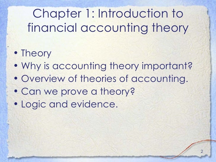 financial theories overview