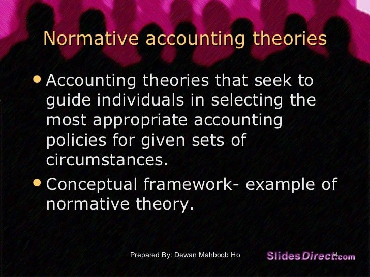accounting theory 4 Part one accounting theory 1 introduction 2 accounting theory construction 3 applying theory to accounting regulation part two theory and accounting practice 4.