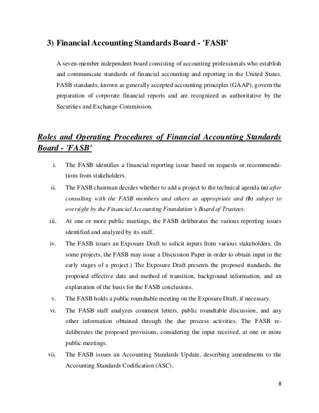 role of fasb The roles of aicpa, aaa, sec, fasb, icab & icmab - accounting theory 1 1 1 green university of bangladesh assignment on accounting theory topic name.