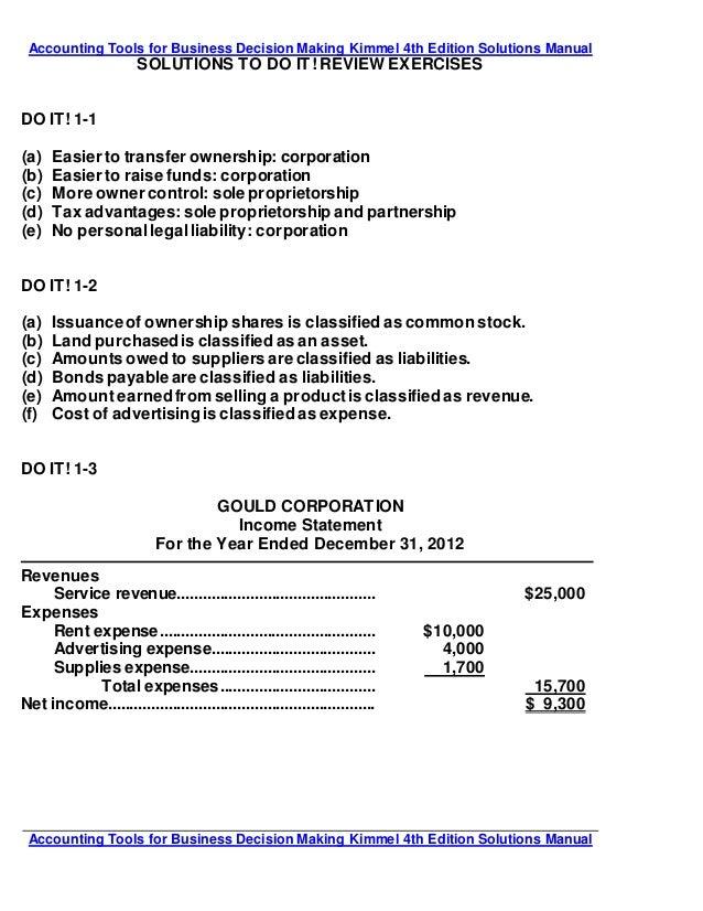 kimmel accounting 6e solutions manual