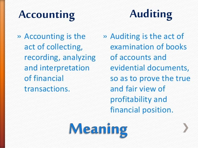 Accounting Vs Auditing By Jenrap14