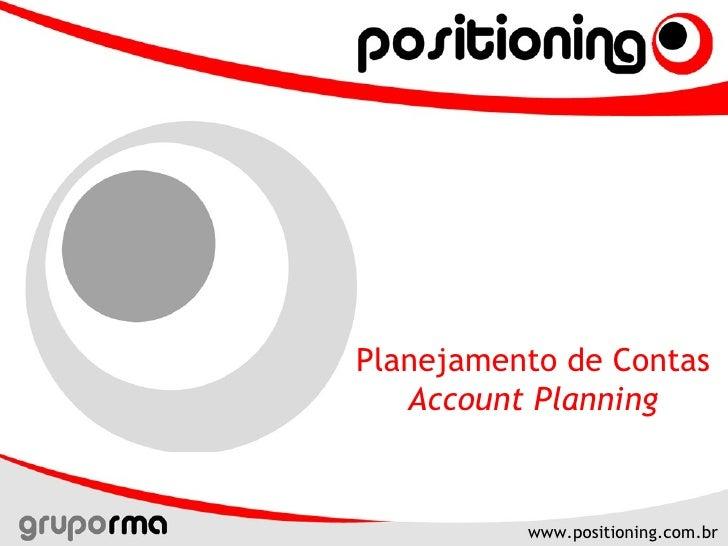 Planejamento de Contas  Account Planning