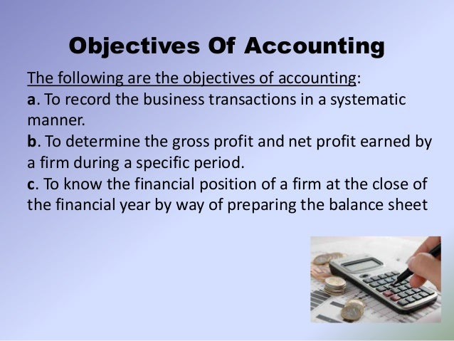 what are objectives of accounting