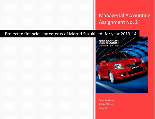 managerial accounting assignment