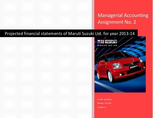 Maruti Suzuki Financial Statements