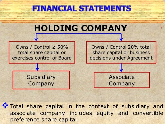 relationship between holding companies and subsidiaries Court in relation to what factors will be considered when the court assesses the   holding company and was likely to reflect the subsidiary it was also relevant.