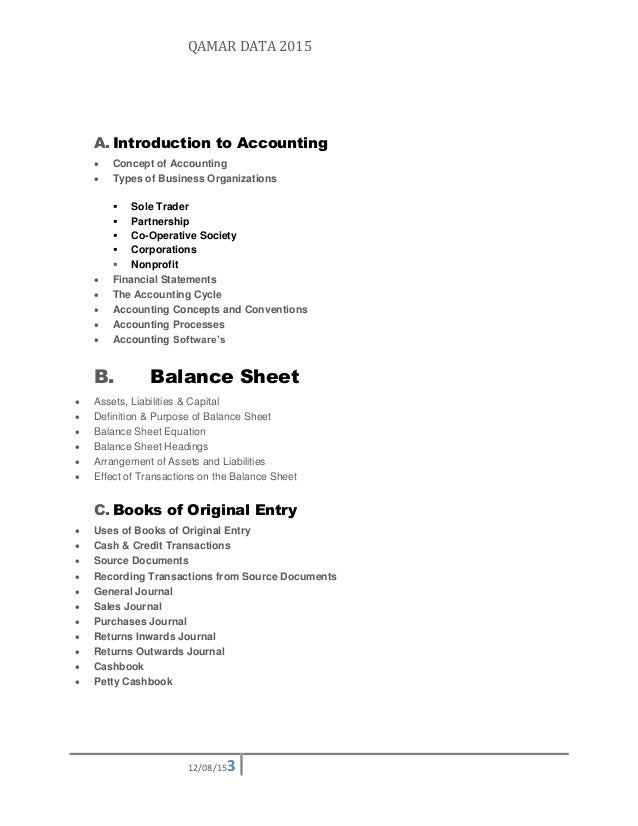 SlideShare  Professional Balance Sheet