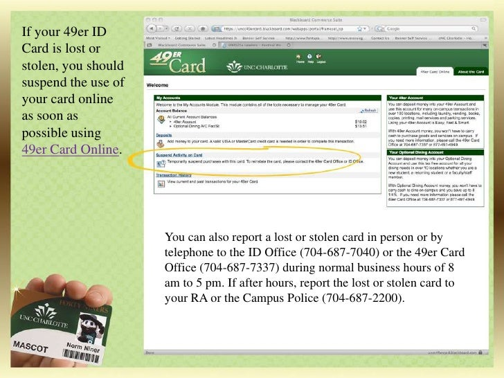 Dining Accounts Explanation Unc Charlotte