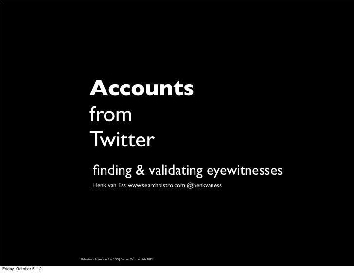 Accounts                              from                              Twitter                                 finding & v...