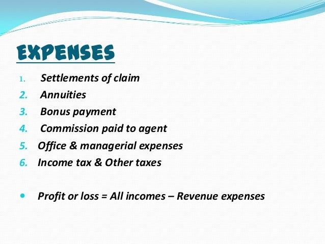 Accounts of insurance companies