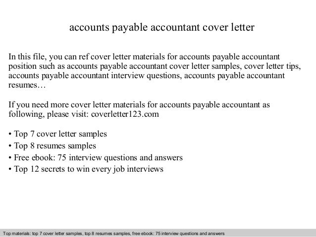 Accounts Payable Accountant Cover Letter In This File, You Can Ref Cover  Letter Materials For ... Awesome Design