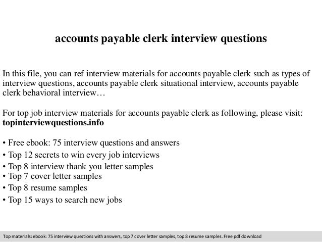 accounts payable clerk interview questions