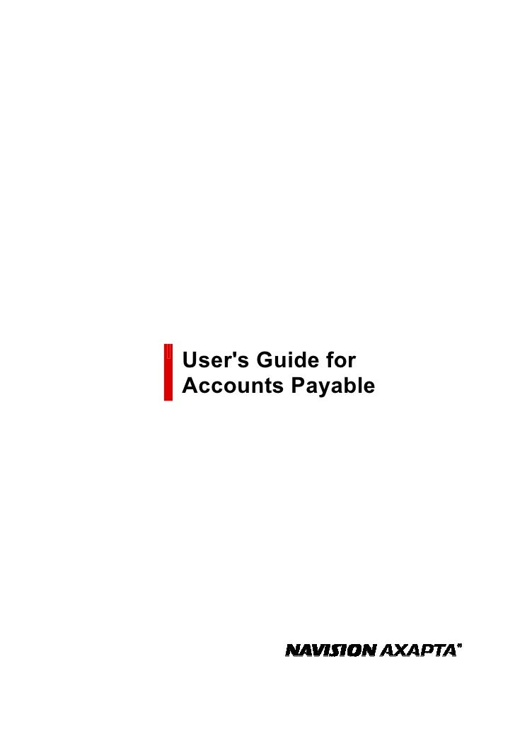 User's Guide for Accounts Payable