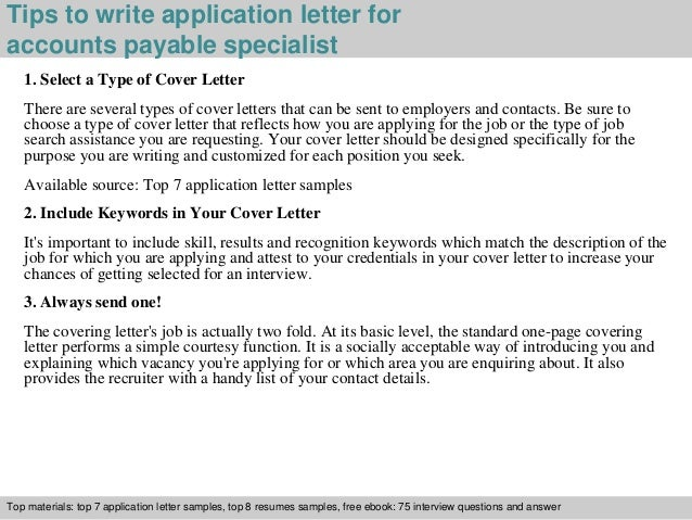 3 Tips To Write Application Letter For Accounts Payable Specialist