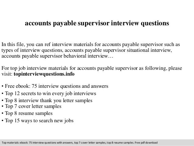 accounts payable supervisor resumes