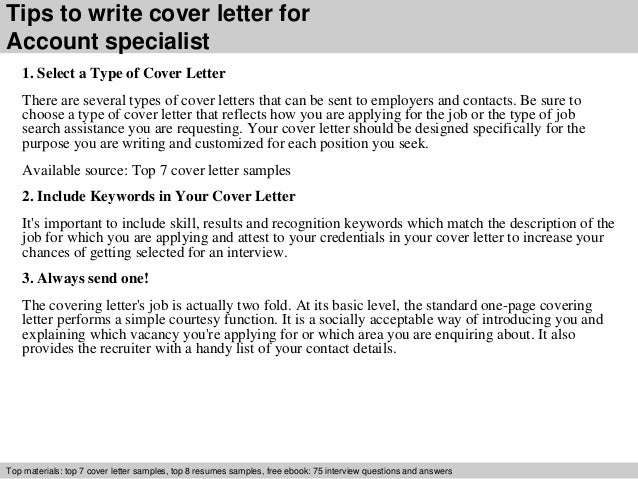 Sales and service specialist cover letter