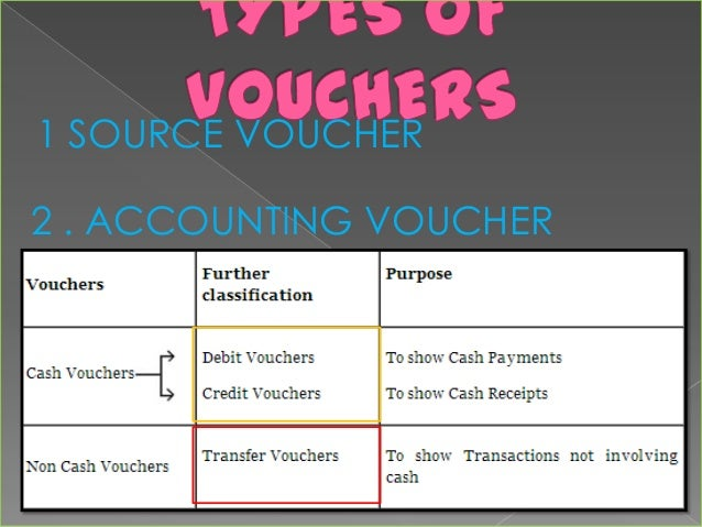 different types of payment vouchers