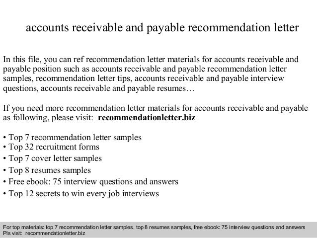 accounts receivable resumes samples