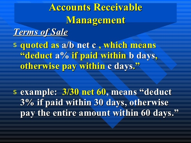 accounts receivable and inventory management This article presents a modified value-based inventory management model   aar = average level of accounts receivables inv = inventory g = cash and cash.