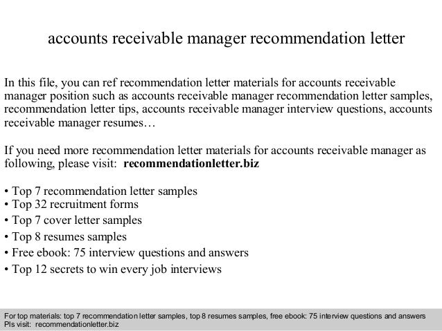 Awesome Interview Questions And Answers U2013 Free Download/ Pdf And Ppt File Accounts  Receivable Manager Recommendation ...