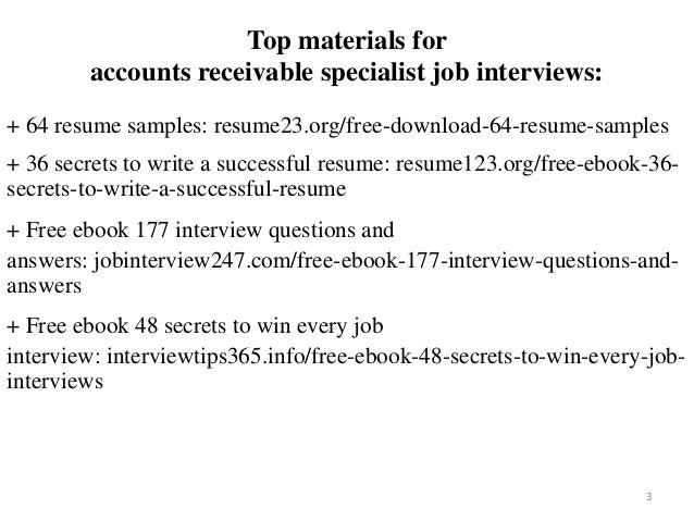 Accounts receivable specialist resume sample pdf ebook free download