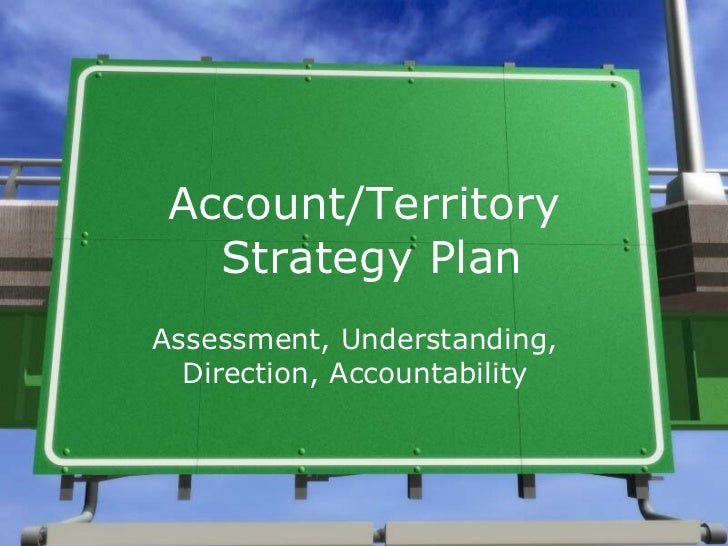 Account Strategy Template – Sample Territory Sales Plan