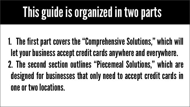 Accepting credit cards the ultimate guide for small business for Credit card acceptance for small business