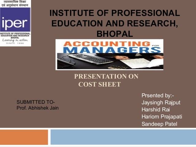 INSTITUTE OF PROFESSIONAL               EDUCATION AND RESEARCH,                        BHOPAL                      PRESENT...