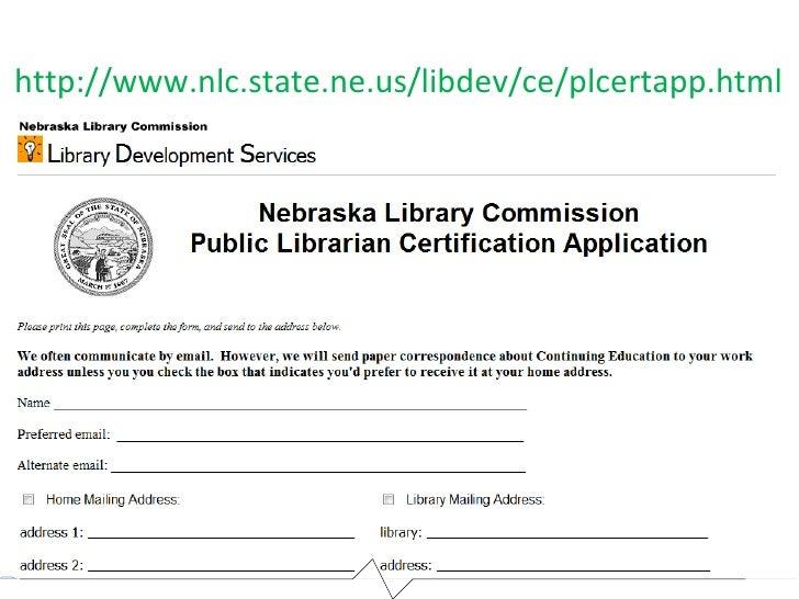 NCompass Live: Nebraska Library Accreditation, Librarian Certificatio…
