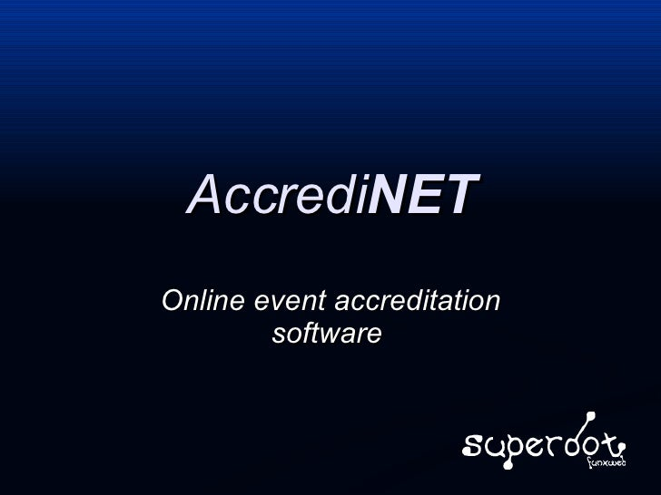 Accredi NET Online event accreditation software