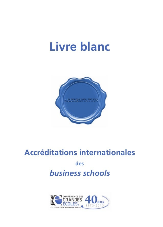 Livre blanc Accréditations internationales des business schools