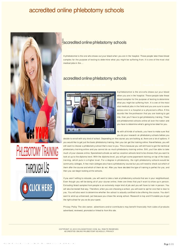Accredited Online Phlebotomy Schools