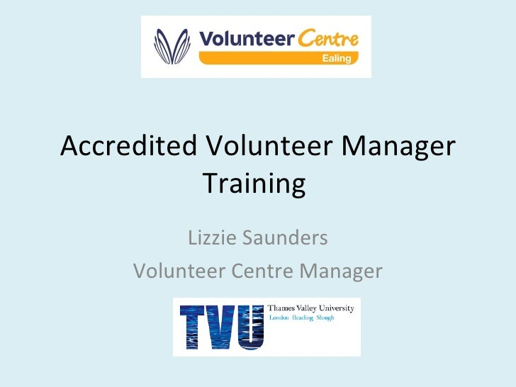 Accredited Volunteer Manager Training