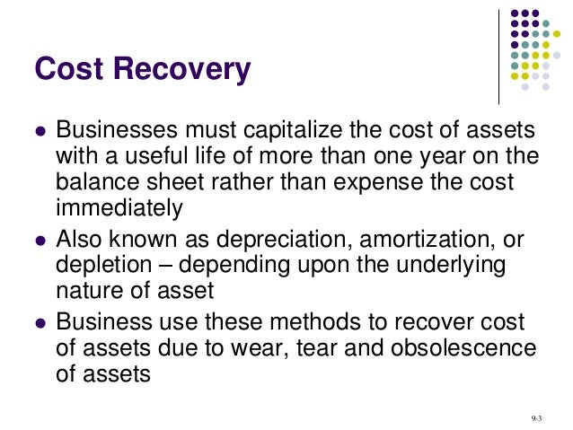 The Asset Is  Year Recovery Tangible Personal Property