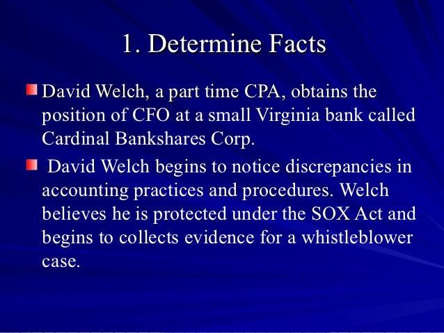 Acct 465 case 6 8 presentation Slide 3