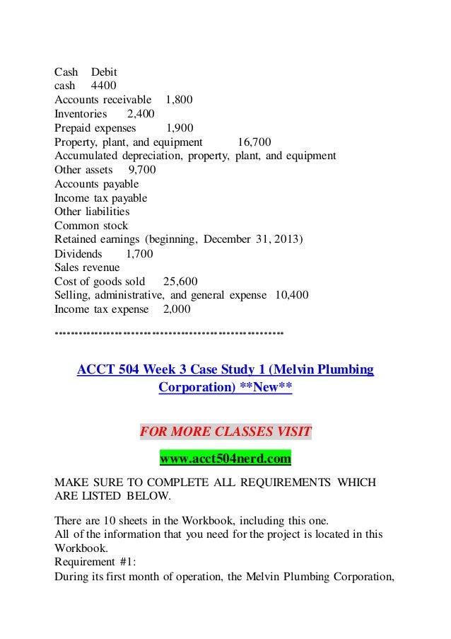 Acct 504 case study 3 cash