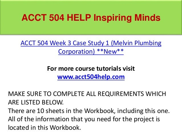 Accounting 504 course project