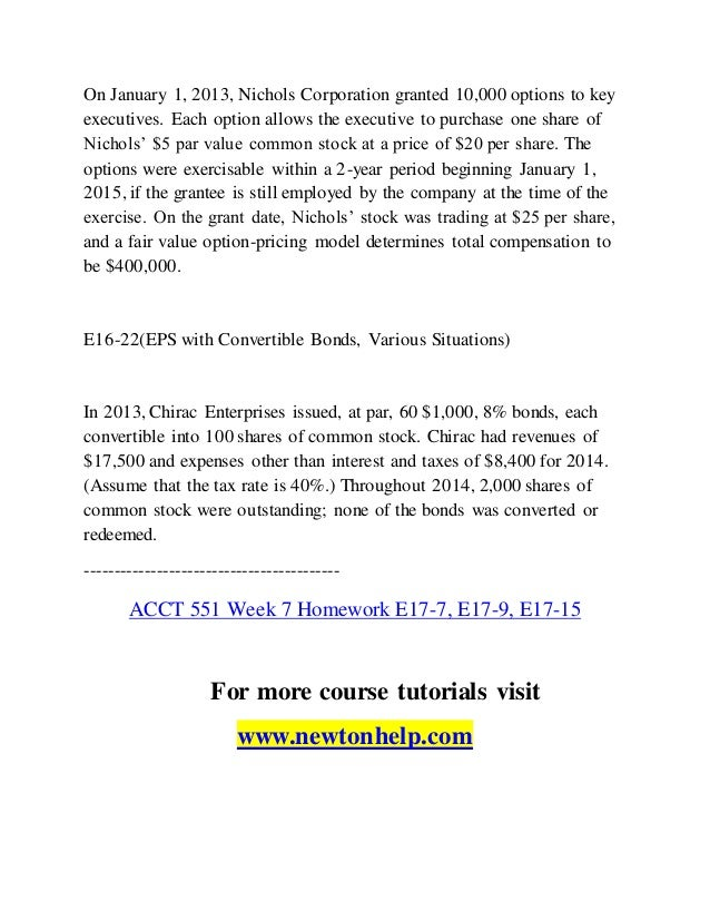 Acadassist - Nichols Corporation - Issuance, Exercise, and Termination of Stock Options