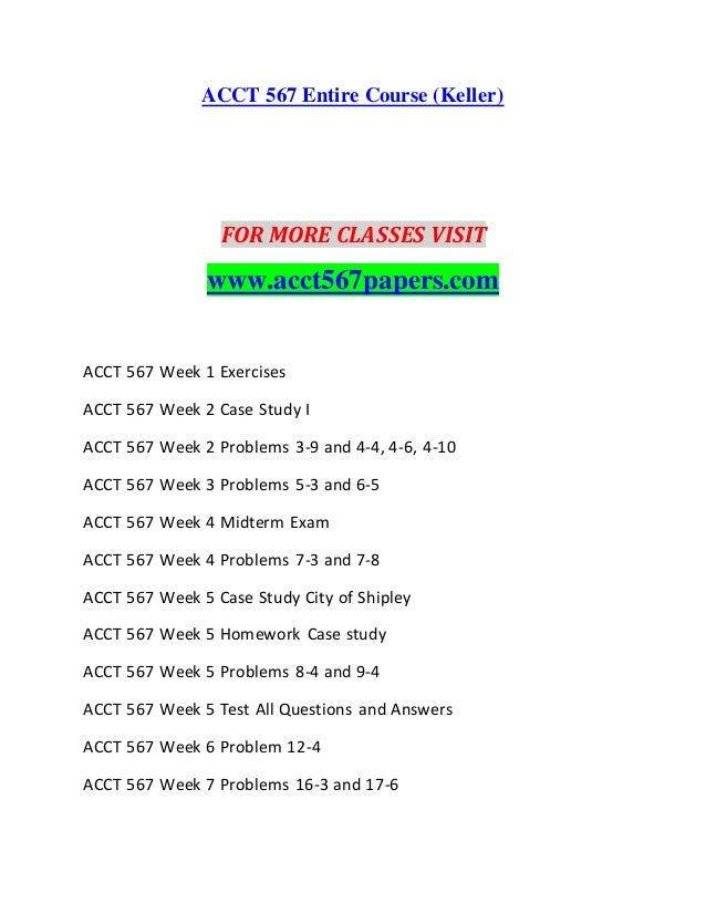 acct 567 week 2 homework